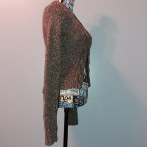 Fossil Sweaters - Fossil Brown Wool Blend Knit Cardigan Sweater
